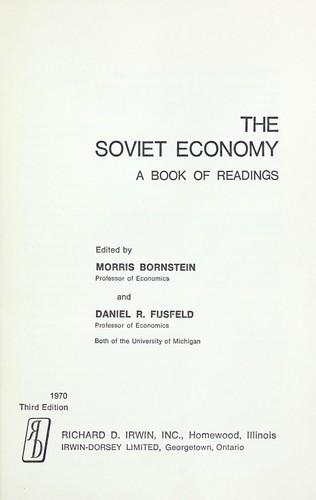 Download The Soviet economy