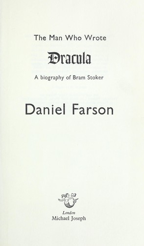 Download The man who wrote Dracula