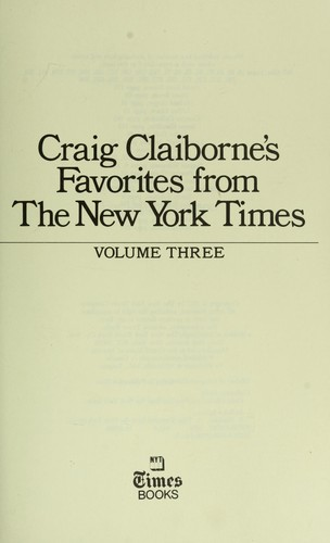 Craig Claiborne's Favorites from the New York Times.