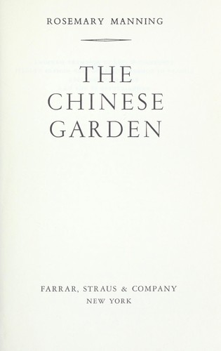The Chinese garden.
