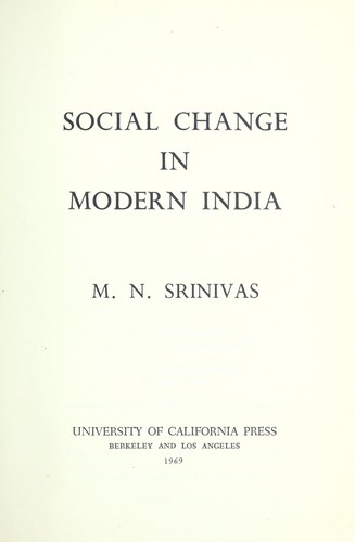 Download Social change in modern India
