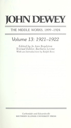 The middle works, 1899-1924