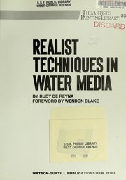 Realist techniques in water media PDF