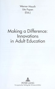 Making a difference : innovations in adult education PDF