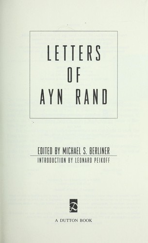 Download Letters of Ayn Rand