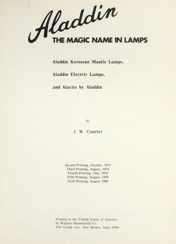 Aladdin, the magic name in lamps
