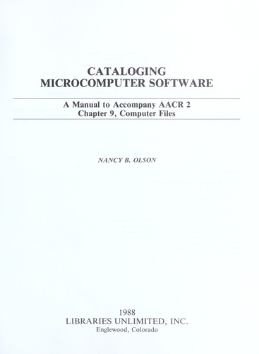 Download Cataloging microcomputer software