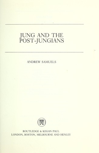 Download Jung and the post-Jungians