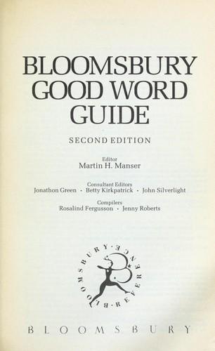 Download Bloomsbury Good Word Guide