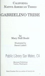 Gabrielino tribe PDF