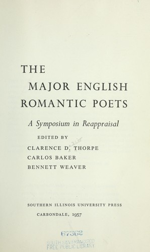 Download The major English romantic poets