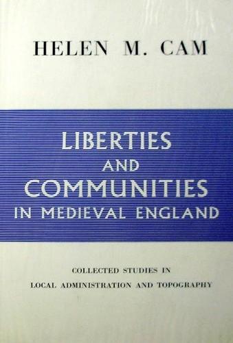 Liberties & communities in medieval England