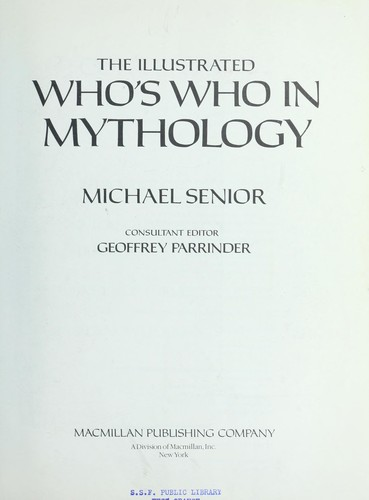 Download Illustrated who's who in mythology