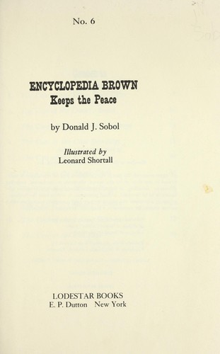 Download Encyclopedia Brown keeps the peace