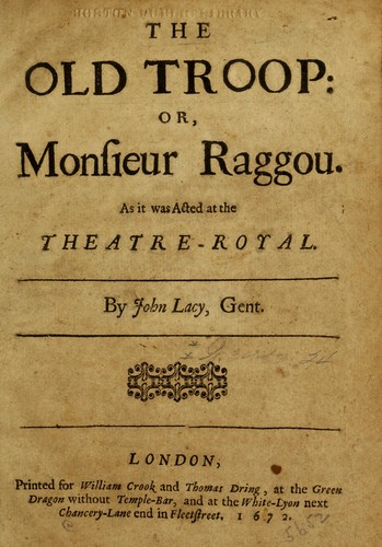 The old troop, or, Monsieur Raggou