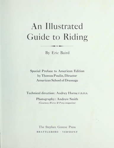 An illustrated guide to riding