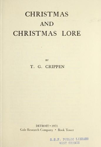 Christmas and Christmas lore