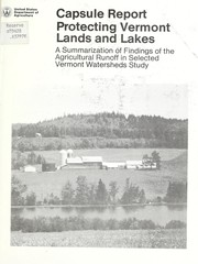 Protecting Vermont lands and lakes PDF