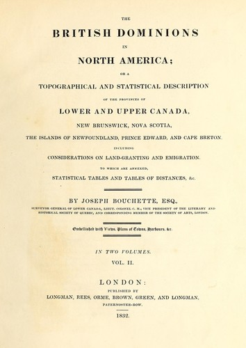 The British dominions in North America