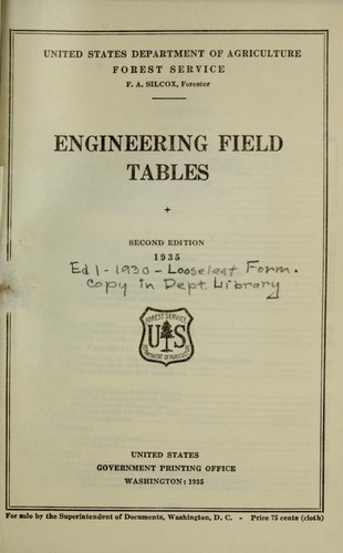 Download Engineering field tables.