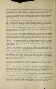 Legislative department PDF
