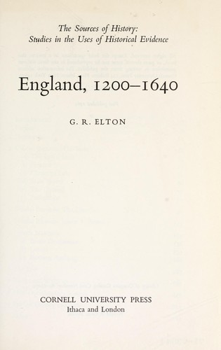 Download England, 1200-1640