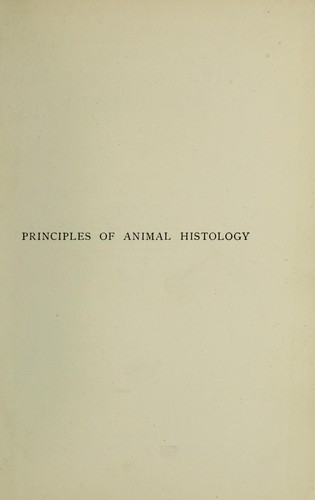 Download A text-book of the principles of animal histology