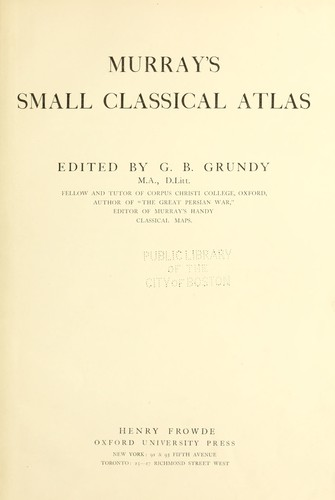 Download Murray's small classical atlas.