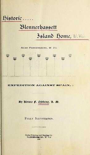 Historic Blennerhassett Island home, near Parkersburg, W. Va.