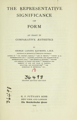 The representative significance of form