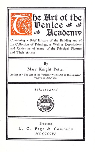 Download The art of the Venice academy.
