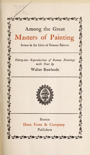 Download Among the great masters of painting