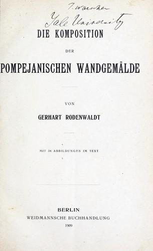 Die komposition der pompejanischen wandgemälde