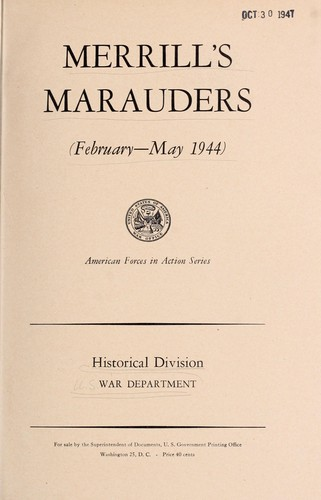 Download Merrill's marauders (February-May 1944)