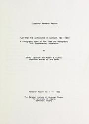 Film and the Ukrainians in Canada, 1921-1980