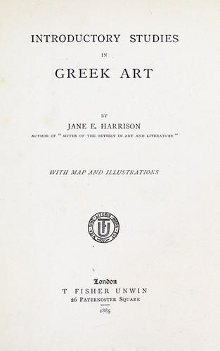 Introductory studies in Greek art
