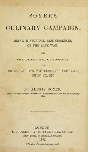 Soyer's culinary campaign.