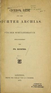 Ciceros Rede fu r den Dichter Archias