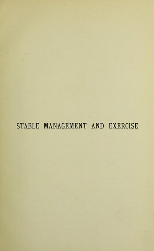 Download Stable management and exercise