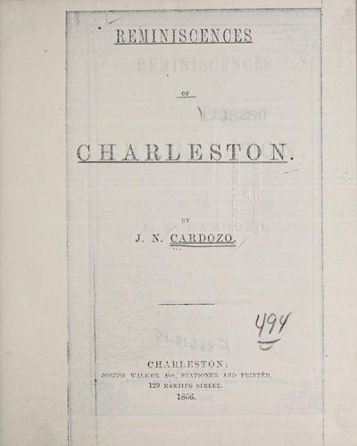 Reminiscences of Charleston