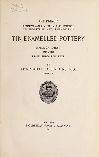 Download Tin enamelled pottery