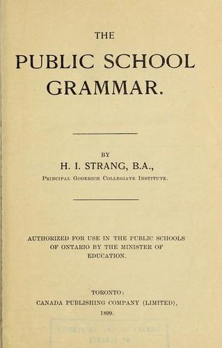 Download The public school grammar