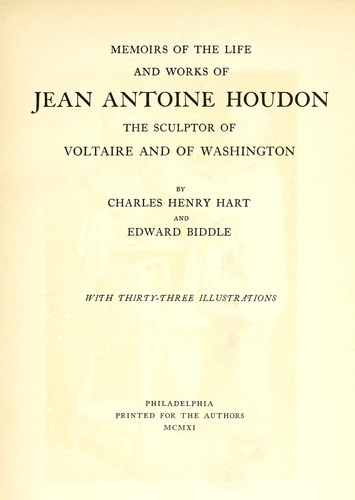 Download Memoirs of the life and works of Jean Antoine Houdon