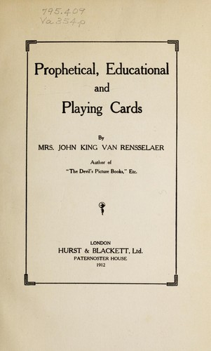 Prophetical, educational, and playing cards