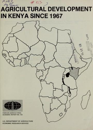 Agricultural development in Kenya since 1967