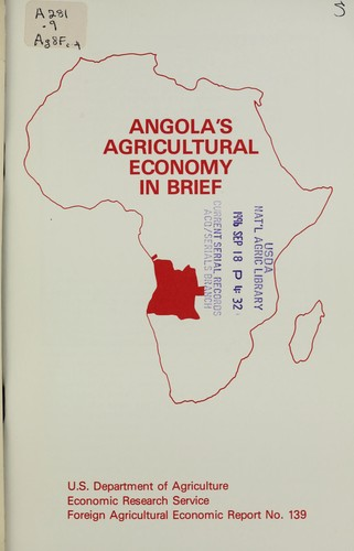 Angola's agricultural economy in brief