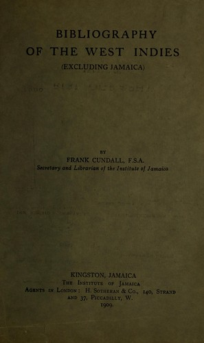 Bibliography of the West Indies (excluding Jamaica)