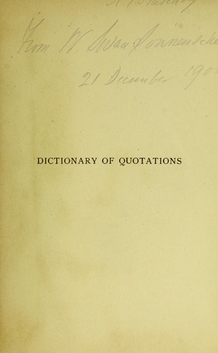 Dictionary of quotations, French and Italian