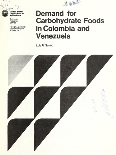 Download Demand for carbohydrate foods in Colombia and Venezuela