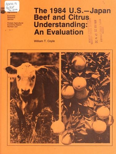 The 1984 U.S.-Japan beef and citrus understanding